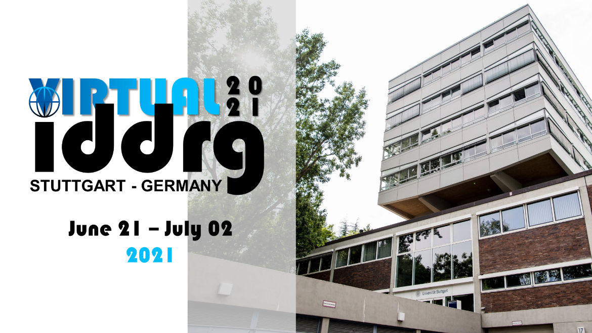Logo of the IDDRG 2021 - Virtual with the building of the Institute for Metal Forming Technology